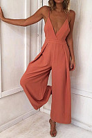 Spaghetti Strap  Back Hole  Sleeveless Jumpsuits