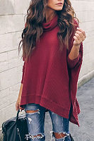 High Collar Split Long Sleeve T-Shirt