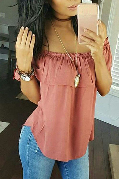 Casual Shoulder-Length Short-Sleeved T-Shirt