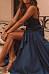 Sexy Halter Solid Color Ruffled Irregular Split Dress