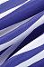 Deep V Neck  Striped  Bell Sleeve  Blouses