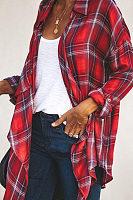 Plaid Shirt Long Sleeve Autumn Blouse