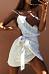 Spaghetti Strap  Belt  Striped  Sleeveless Casual Dresses