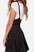 Spaghetti Strap  Zipper  Plain  Sleeveless Skater Dresses