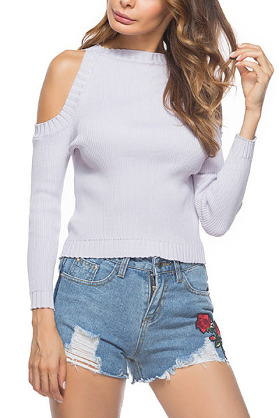 Round Neck  Knit Autumn Sweaters