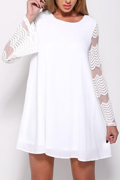 Chiffon Patchwork Casual Dress