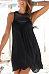 Round Neck  Patchwork Plain  Sleeveless Casual Dresses