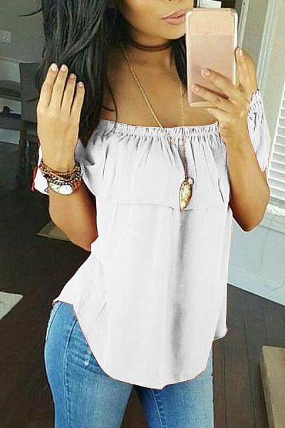 Casual Shoulder-Length Short-Sleeved T-Shirt