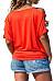 Collarless  Patchwork  Plain T-Shirts