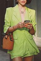 Fashion Pure Color Long Sleeve Blazer