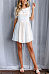 Round Neck  Striped  Short Sleeve Skater Dresses
