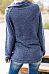 High Neck  Zipper  Plain Sweatshirts