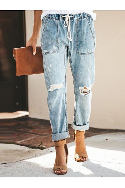 pocket patch denim jeans