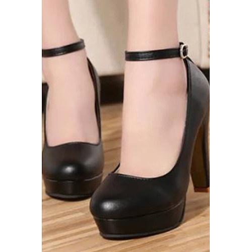 Stiletto Casual Rubber Plain Heels