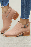 Plain Boots  Solid Color Booties