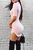 Tie Collar  Asymmetric Hem  Plain  Short Sleeve Bodycon Dresses