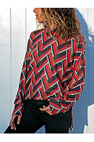 High Neck  Side Slit  Textured T-Shirts