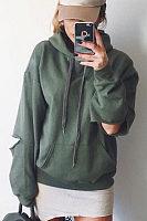 Fashion Hooded  Cutout Hoodies