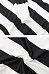 V Neck  Striped  Lantern Sleeve T-Shirts