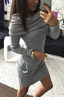 Cowl Neck  Two Way  Plain Bodycon Dresses