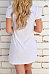 V Neck  Lace Up  Plain  Short Sleeve Casual Dresses