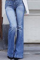 Long  Bootcut  Basic  Plain  Jeans