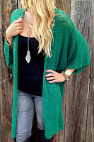 Loose Fitting Snap Front  Plain Cardigans