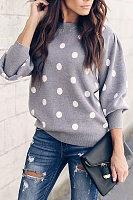 Round Neck  Dot Sweaters