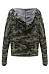 Hooded  Single Breasted  Camouflage Hoodies