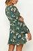Deep V Neck  Floral Printed  Long Sleeve Casual Dresses