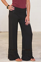 Long Fitted Cutout  Plain Pants