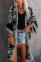Long-Sleeved Applique Fashion Leisure Shawl