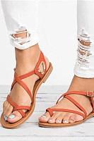 Plain  Flat  Peep Toe  Casual Date Travel Flat Sandals