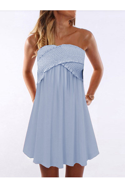 Casual Crossover Ruffled Dress