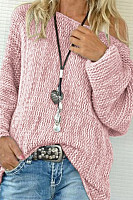 Single Shoulder Out Long Sleeve Mesh Sweater