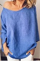 Casual Solid Color Loose Top