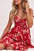 Spaghetti Strap  Single Breasted  Floral Printed  Sleeveless Maxi Dresses