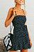 Spaghetti Strap  Backless  Dot  Sleeveless Casual Dresses