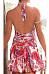 Halter  Backless  Printed  Sleeveless Bodycon Dresses