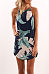 Spaghetti Strap  Asymmetric Hem  Printed  Sleeveless Casual Dresses