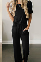 Stylish Casual Short Sleeve Jumpsuits