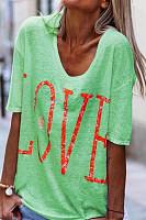 Fashion Short Sleeve Loose Printed T-Shirt