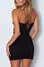 Strapless  Backless Bowknot  Plain  Sleeveless Bodycon Dresses