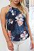Halter  Asymmetric Hem  Floral Printed  Vests