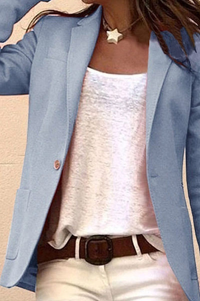 Fashion Casual Lapel Long Sleeves Braser