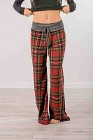 Long  Basic  Checkered   Pants