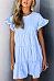 Round Neck  Beading  Plain  Short Sleeve Casual Dresses