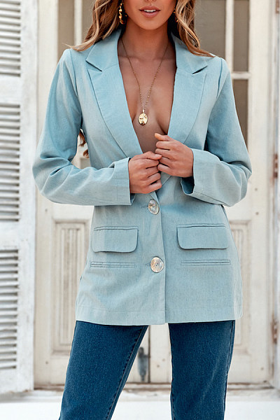 Casual Lapel Single-Breasted Blazers