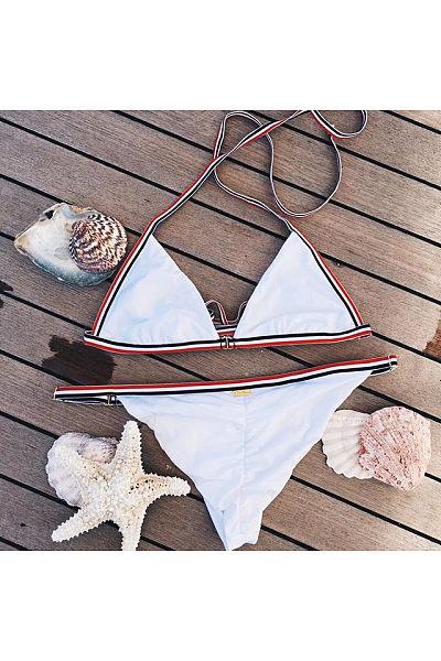 White Stripe Sexy Bikini