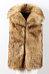 Faux Fur Collar  Plain Outerwear